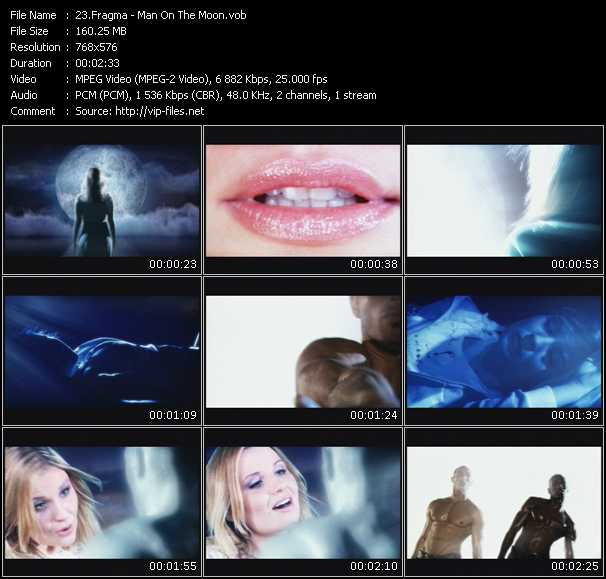 Screenshot of Music Video Fragma - Man On The Moon