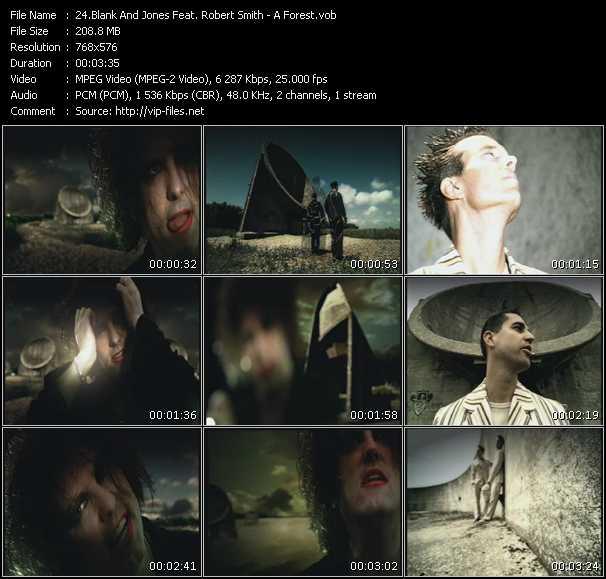 Screenshot of Music Video Blank And Jones Feat. Robert Smith - A Forest