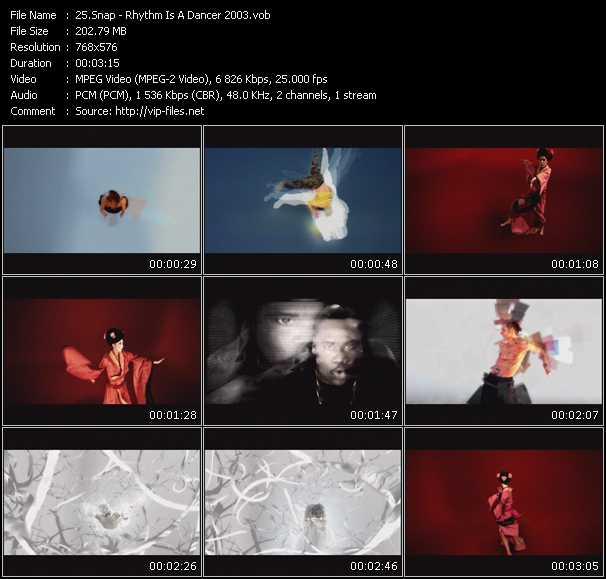 Screenshot of Music Video Snap! - Rhythm Is A Dancer 2003