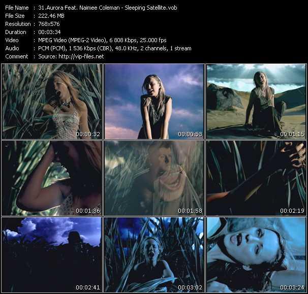 Screenshot of Music Video Aurora Feat. Naimee Coleman - Sleeping Satellite