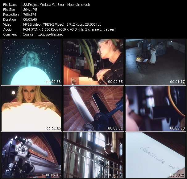 Screenshot of Music Video Project Medusa Vs. Exor - Moonshine