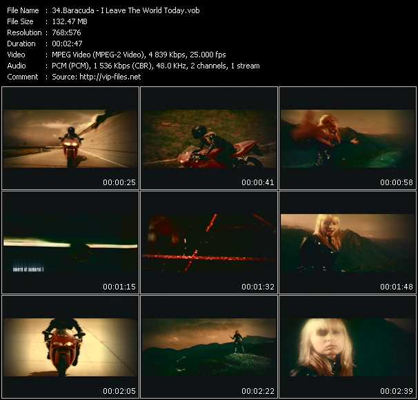 Screenshot of Music Video Baracuda - I Leave The World Today