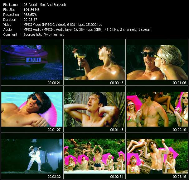 Screenshot of Music Video Aloud - Sex And Sun