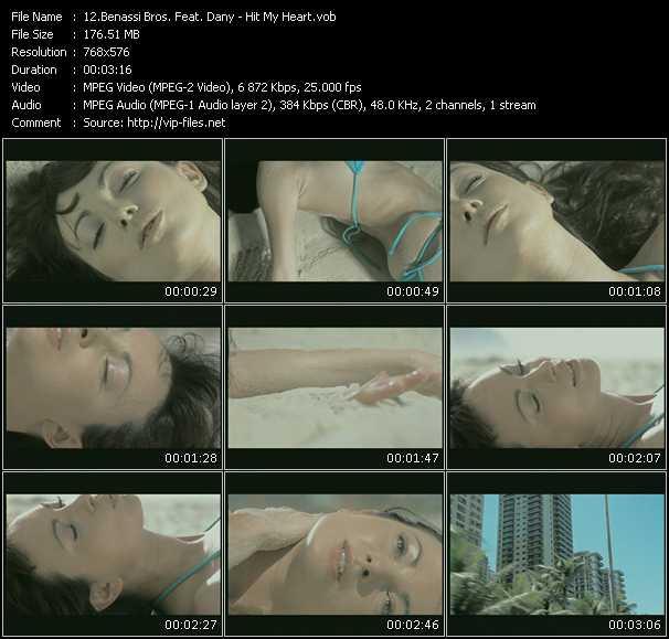 Screenshot of Music Video Benassi Bros. Feat. Dhany - Hit My Heart