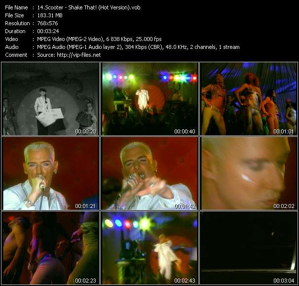Screenshot of Music Video Scooter - Shake That! (Hot Version)