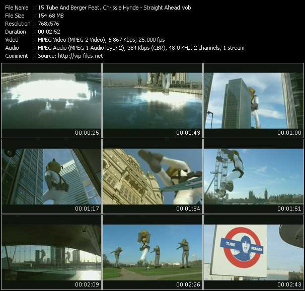 Screenshot of Music Video Tube And Berger Feat. Chrissie Hynde - Straight Ahead
