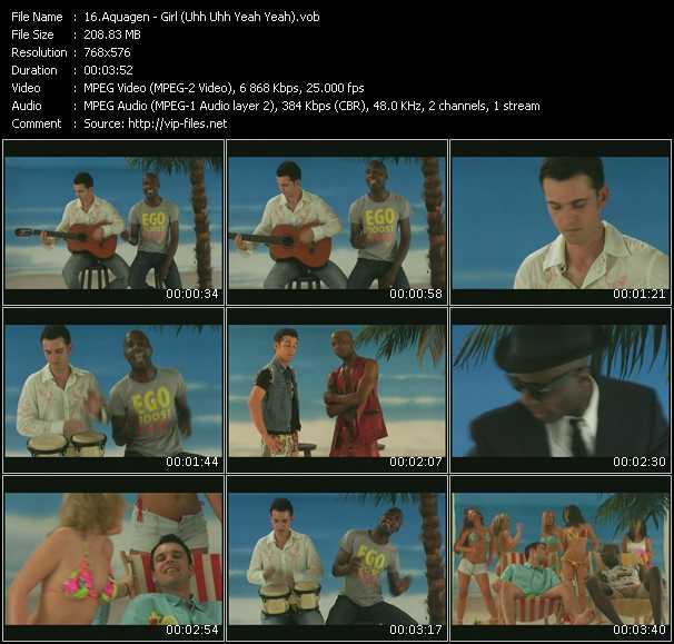 Screenshot of Music Video Aquagen - Girl (Uhh Uhh Yeah Yeah)