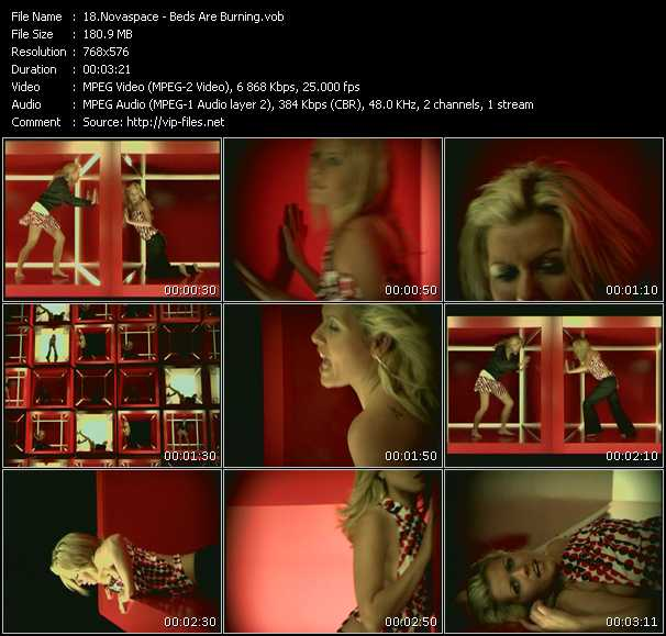 Screenshot of Music Video Novaspace - Beds Are Burning