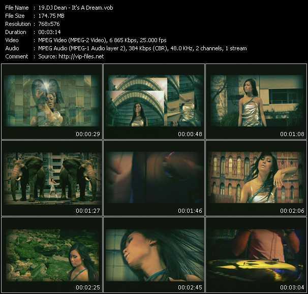 Screenshot of Music Video Dj Dean - It's A Dream