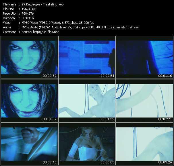 Screenshot of Music Video Katpeople - Freefalling
