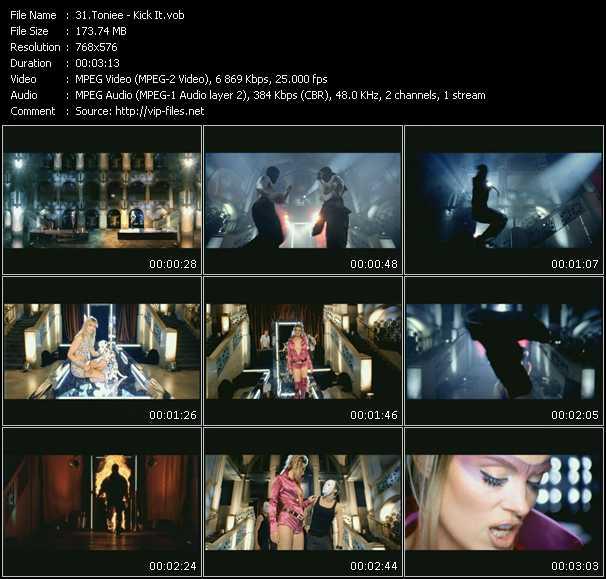 Screenshot of Music Video Toniee - Kick It