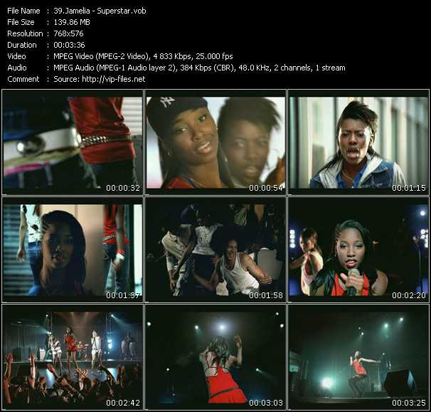 Screenshot of Music Video Jamelia - Superstar