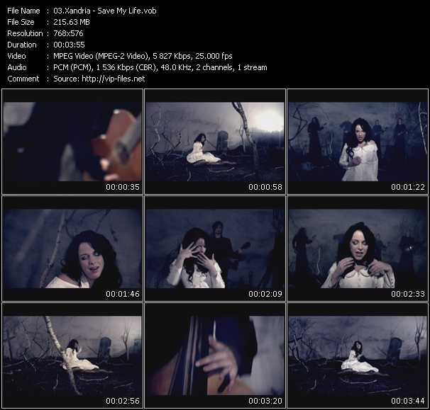 Screenshot of Music Video Xandria - Save My Life