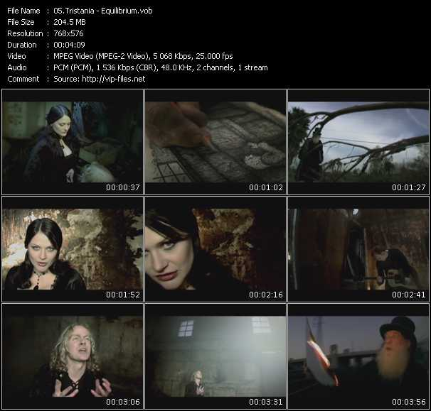 Screenshot of Music Video Tristania - Equilibrium