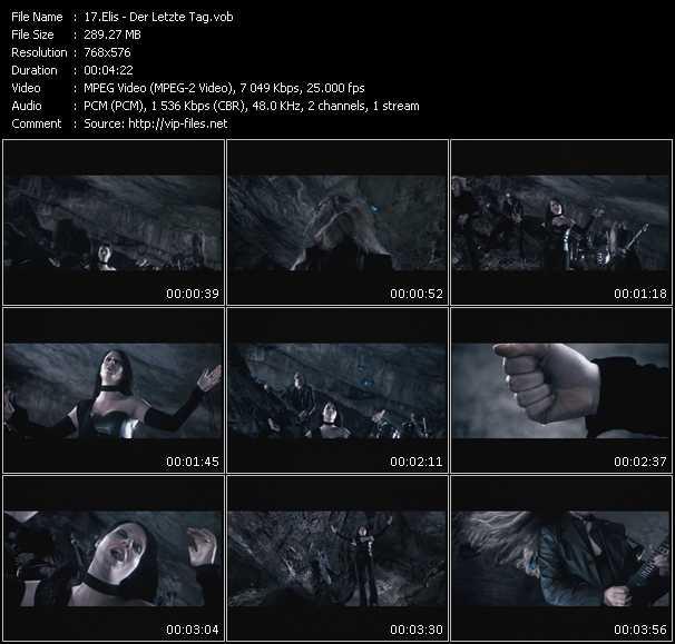 Screenshot of Music Video Elis - Der Letzte Tag