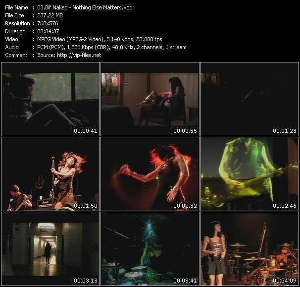 Screenshot of Music Video Bif Naked - Nothing Else Matters