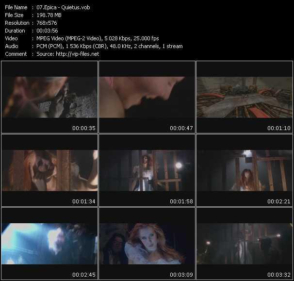 Screenshot of Music Video Epica - Quietus