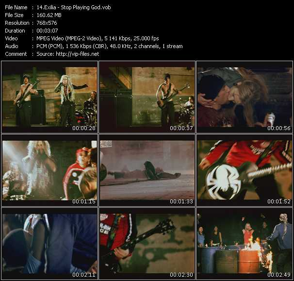 Screenshot of Music Video Exilia - Stop Playing God