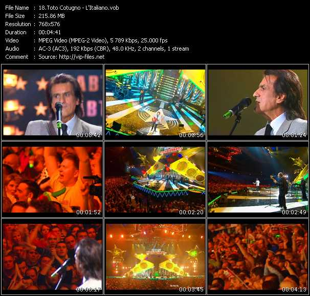 Toto Cotugno video vob