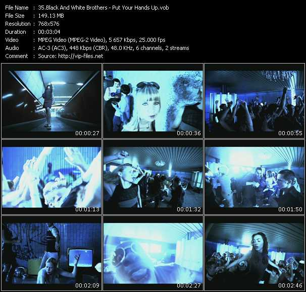 Screenshot of Music Video Black And White Brothers - Put Your Hands Up