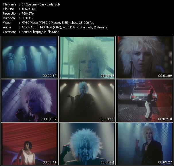 Screenshot of Music Video Spagna - Easy Lady