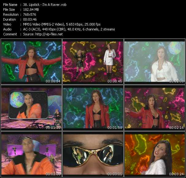Screenshot of Music Video Lipstick - I'm A Raver
