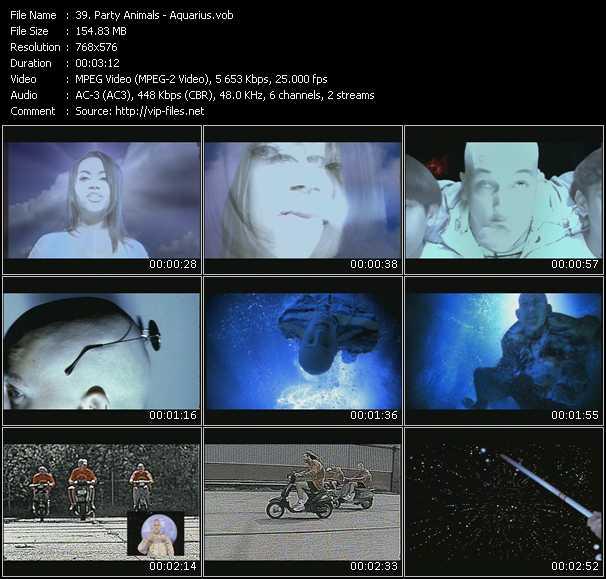 Screenshot of Music Video Party Animals - Aquarius