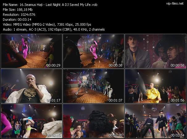 Screenshot of Music Video Seamus Haji - Last Night A DJ Saved My Life