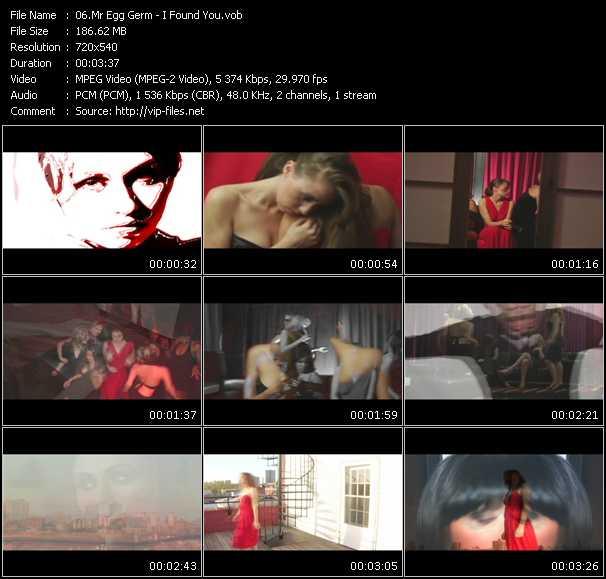 Screenshot of Music Video Mr. Egg Germ - I Found You