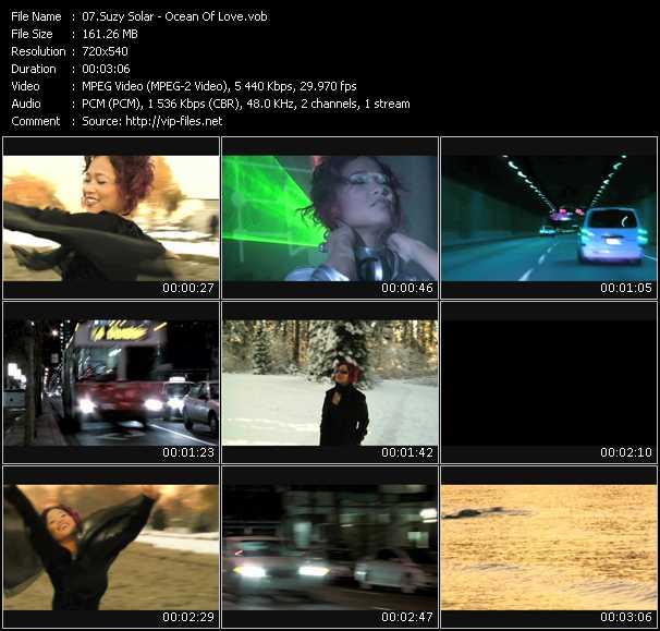 Screenshot of Music Video Suzy Solar - Ocean Of Love