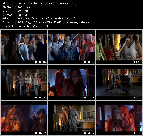 Screenshot of Music Video Danielle Bollinger Feat. Nicco - Take It Back