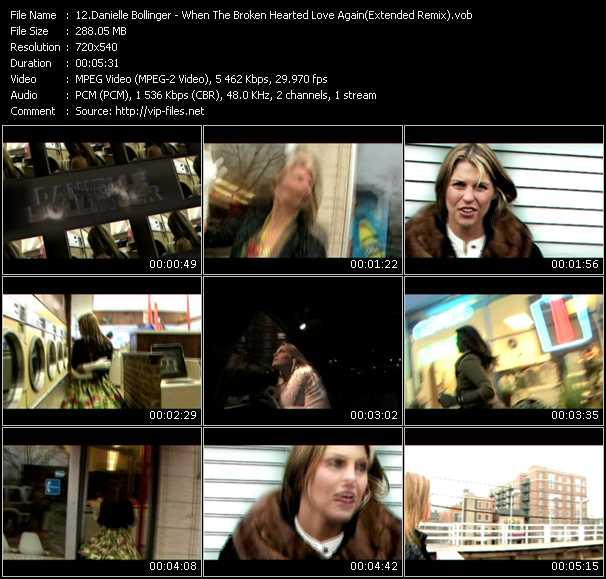 Screenshot of Music Video Danielle Bollinger - When The Broken Hearted Love Again (Extended Remix)