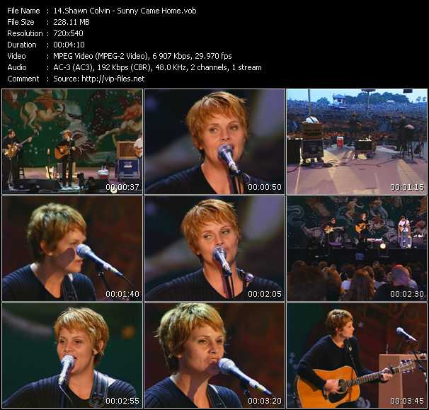 Screenshot of Music Video Shawn Colvin - Sunny Came Home