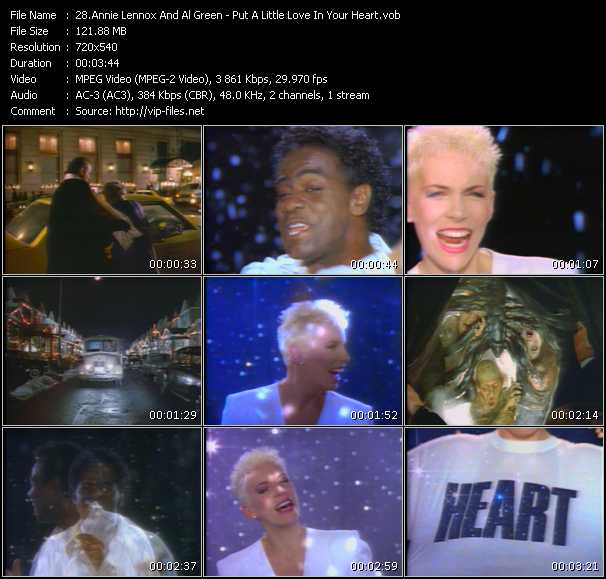 Annie Lennox And Al Green video vob
