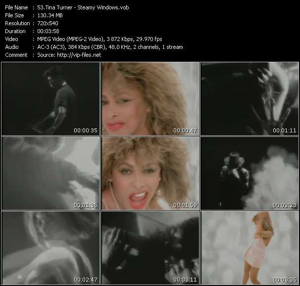 Screenshot of Music Video Tina Turner - Steamy Windows