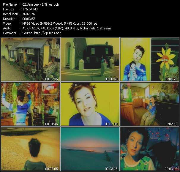 Screenshot of Music Video Ann Lee - 2 Times