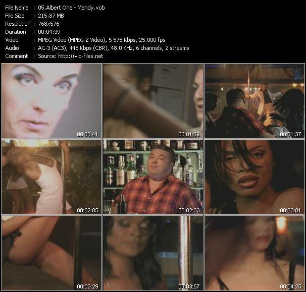 Screenshot of Music Video Albert One - Mandy