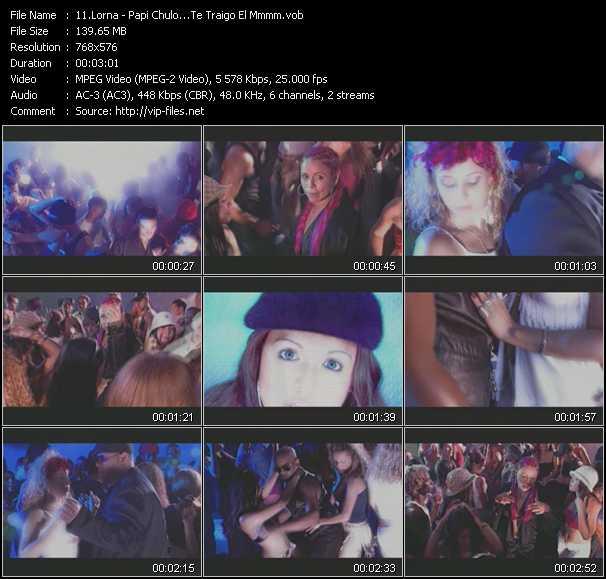 Screenshot of Music Video Lorna - Papi Chulo...Te Traigo El Mmmm