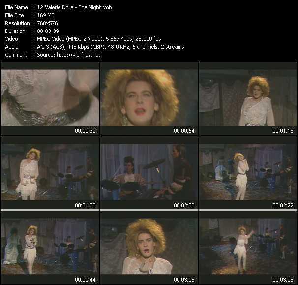 Screenshot of Music Video Valerie Dore - The Night