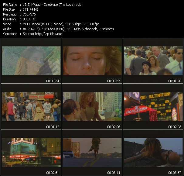 Screenshot of Music Video Zhi-Vago - Celebrate (The Love)