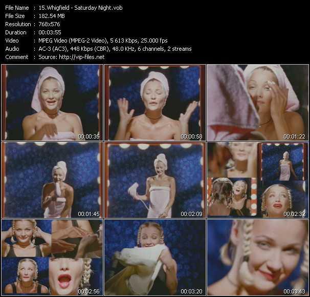 Screenshot of Music Video Whigfield - Saturday Night
