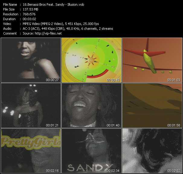 Screenshot of Music Video Benassi Bros. Feat. Sandy - Illusion