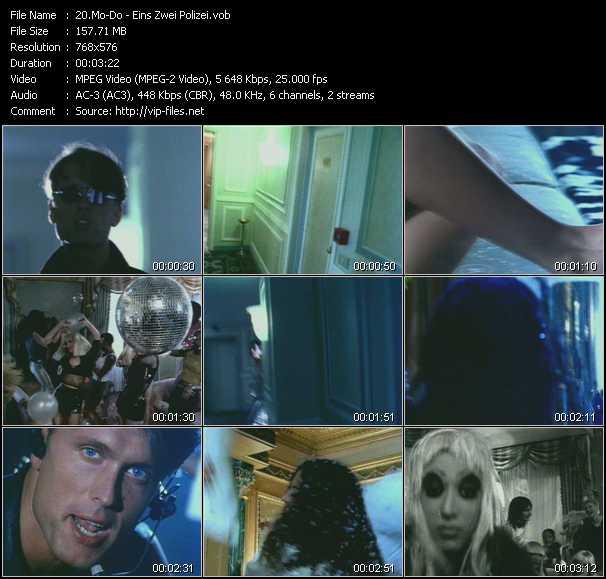 Screenshot of Music Video Mo-Do - Eins, Zwei, Polizei