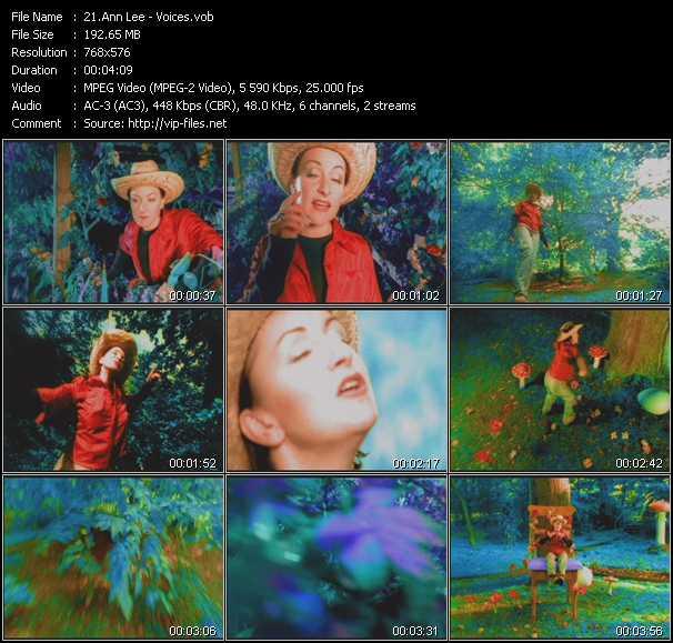 Screenshot of Music Video Ann Lee - Voices
