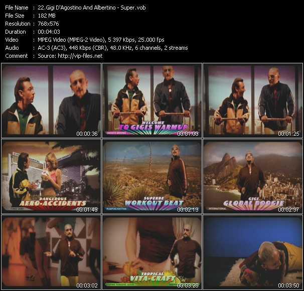 Screenshot of Music Video Gigi D'Agostino And Albertino - Super