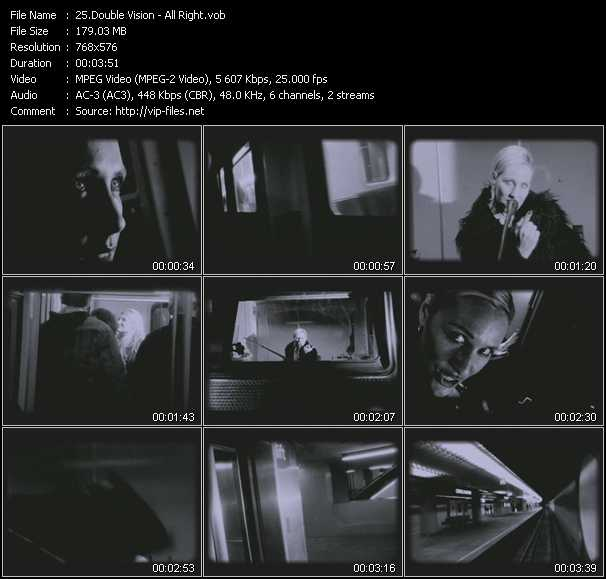 Screenshot of Music Video Double Vision - All Right