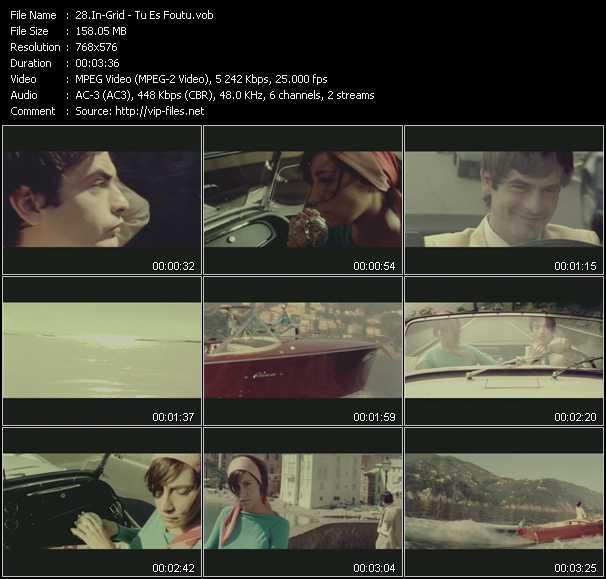 Screenshot of Music Video In-Grid - Tu Es Foutu