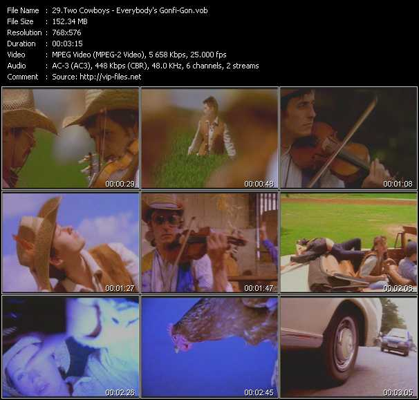 Screenshot of Music Video Two Cowboys - Everybody's Gonfi-Gon