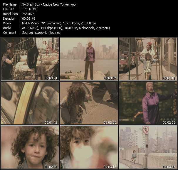 Screenshot of Music Video Black Box - Native New Yorker