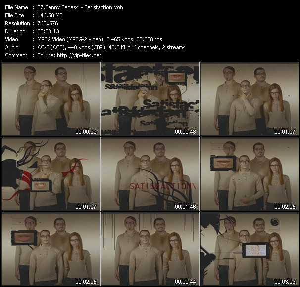 Screenshot of Music Video Benny Benassi - Satisfaction